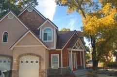 Nice House in the suburbs Stock Photos