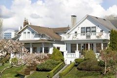 Nice houses neighborhood stock photo