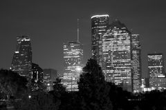 Nice Houston night scenes background Royalty Free Stock Photos
