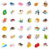 Nice icons set, isometric style. Nice icons set. Isometric style of 36 nice vector icons for web isolated on white background Stock Photo