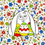 A nice illustration about the Easter Bunny Royalty Free Stock Images