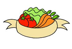 Nice illustration of a logo with vegetables Royalty Free Stock Photo