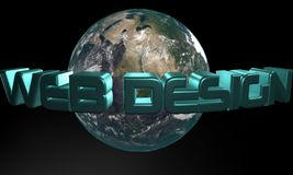 Web Design inspiration background earth vector illustration