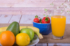 Nice image of a fruit and vegetable based juice. Royalty Free Stock Photos