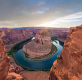 Nice Image of Horseshoe Bend. Amazing Sunset Vista of Horseshoe Bend in Page, Arizona royalty free stock image