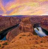 Nice Image of Horseshoe Bend Royalty Free Stock Image