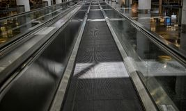The Long Moving Sidewalk Royalty Free Stock Images