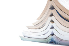 Nice image of a pile of old books on a white background. Royalty Free Stock Images