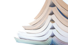 Nice image of a pile of study books. Nice image of a pile of old books on a white background stock illustration