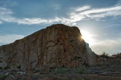 Remains of a quarry on the outskirts of Murcia royalty free stock photography