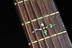 Nice inlay in guitar Royalty Free Stock Images