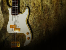 Nice interesting guitar. On the grunge background Stock Photo