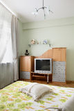 Nice interior of european bedroom Stock Photo