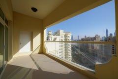 Nice interior of modern balcony. Modern and stylish interior of european balcony Royalty Free Stock Photography