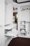 Nice interior of wooden wardrobe Stock Image