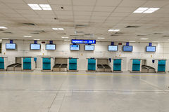 Nice International Airport interior. NICE, FRANCE - AUGUST 15, 2015: Nice International Airport interior. It is located 5.9 km southwest of Nice, in the Alpes royalty free stock photo