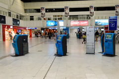 Nice International Airport interior Royalty Free Stock Images