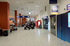 Nice International Airport interior. NICE, FRANCE - AUGUST 15, 2015: Nice International Airport interior. It is located 5.9 km southwest of Nice, in the Alpes royalty free stock image