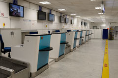 Nice International Airport interior. NICE, FRANCE - AUGUST 15, 2015: Nice International Airport interior. It is located 5.9 km southwest of Nice, in the Alpes royalty free stock photos