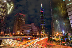 Nice intersection view at Taipei city Stock Photo