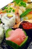 Nice Japanese sushi plate Stock Images