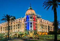 NICE - JULY 5: Negresco Hotel in Nice on July 5 Stock Photo