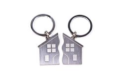 Key-chain with home shape Stock Image