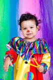 A nice kid wearing clown clothes. Stock Images