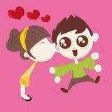 Nice kiss Stock Images