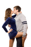 Nice kissing couple in love Royalty Free Stock Image
