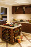 Nice kitchen. A modern nice house,It is brown Royalty Free Stock Images