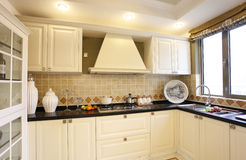 Nice kitchen. A modern nice house,It is white Royalty Free Stock Image