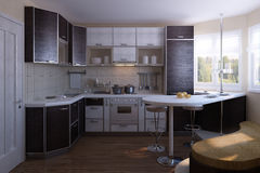 Nice kitchen design Royalty Free Stock Photography