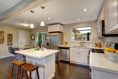 Nice kitchen in modern home. Royalty Free Stock Photo