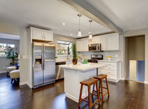 Nice kitchen in modern home. Stock Photo