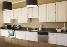 Nice Kitchen with White Cabinets Stock Images
