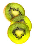 Nice kiwi. In slice on white background Royalty Free Stock Photos