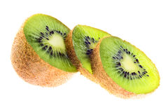 Nice kiwi. In slice on white background Stock Photo