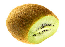 Nice kiwi. In slice on white background Royalty Free Stock Photo
