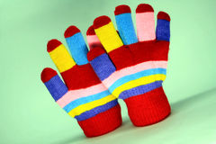 Nice knited mitten Stock Photography