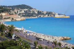 Nice, Kooi d'Azur, Frankrijk Stock Afbeelding