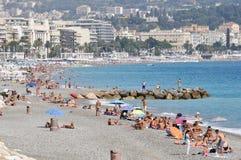 Nice, Kooi d'Azur kustlijn Royalty-vrije Stock Foto's