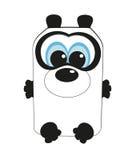 Nice kvadrerar pandaen.   Arkivfoton