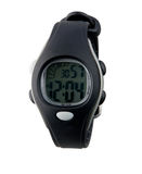 Nice lady wristwatch. Nice and cute design of lady sport wristwatch in black color Royalty Free Stock Image