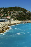 Nice landscape. Landscape of The Riviera in Nice, France stock photography