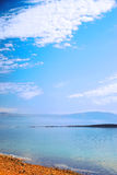 Nice landscape. Beautiful scenery Dead Sea clear summer day Royalty Free Stock Image