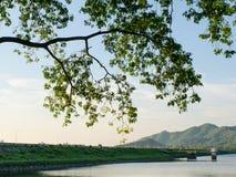 Nice landscape at reservoir Royalty Free Stock Images