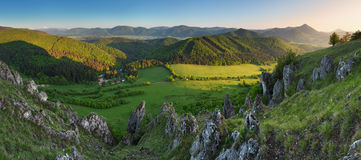 Nice landscape in Slovakia mountain at spring Royalty Free Stock Image