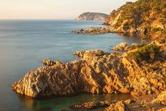 Nice landscape of the Spanish coastal in Costa Brava Royalty Free Stock Photo