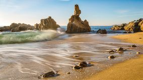Nice landscape of the Spanish coastal in Costa Brava Stock Photos